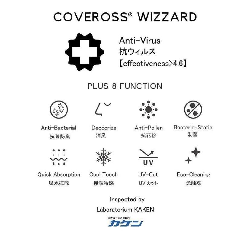 抗ウィルス・抗菌消臭・UVカットなど9の機能
